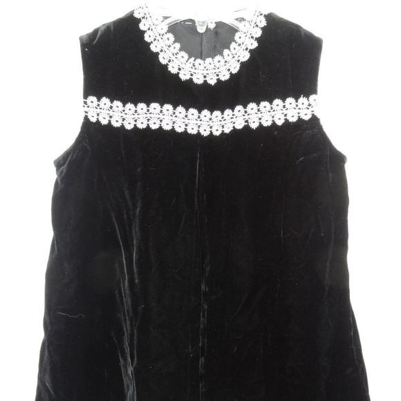 Dresses Vintage Girls Toddler Dress Black Ivory Lace Trim Poshmark